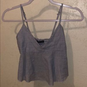 BRANDY MELVILLE BLUE STRIPED CROP TOP